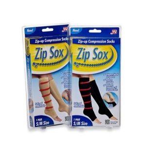Zip Sox Compression Socks 2 Pairs Tan & Black S/M